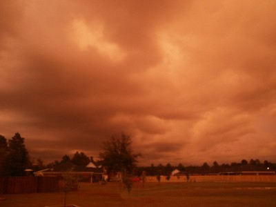 Sepia looking sky photo.