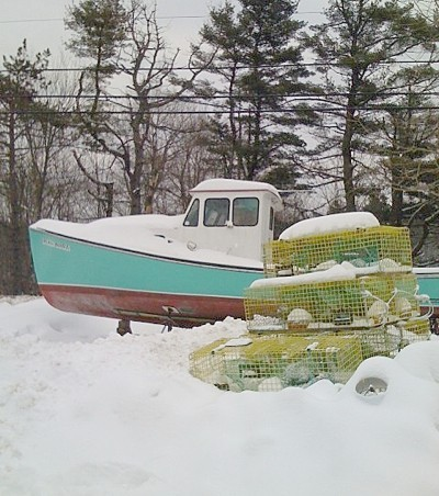 Lobster Boat in Winter