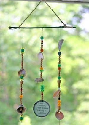 Wind chimes made wth seashells.