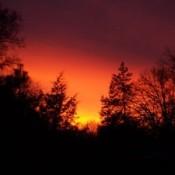 Red and orange sunset.