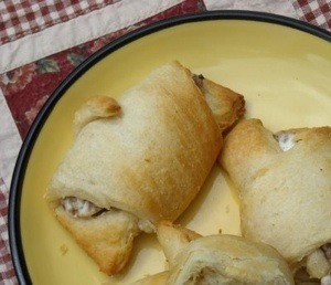 Sausage Cream Cheese Crescents on a plate