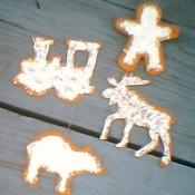 Wooden ornaments.