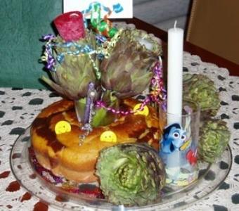 Artichoke Birthday Cake