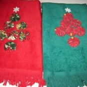 Decorated towels.