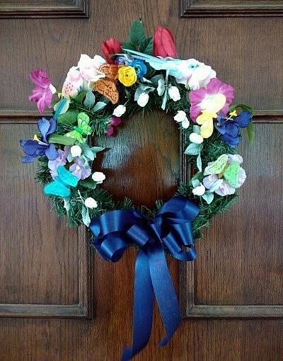 silk flower wreath