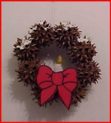 Sweet Gum Mini-Wreath