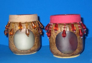 decorated baby jars