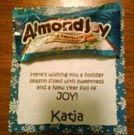 Almond Joy Christmas card