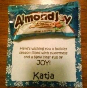 Almond Joy Christmas card