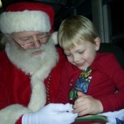 Santa and young boy