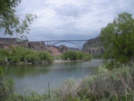 A bridge in Twin Falls, Idaho.