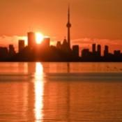 Sunrise over Toronto.