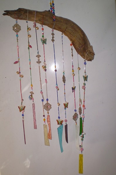 Make a wind chime with old beads and jewelry thriftyfun for How to make a windchime out of silverware