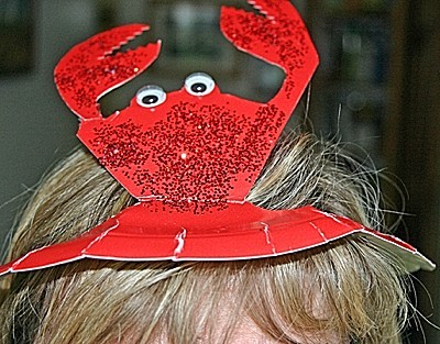 paperplate crab hat