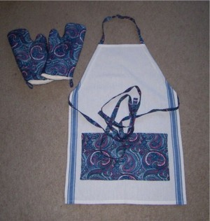 Oven mitts and apron.
