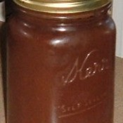 Apple Pumpkin Butter in jar