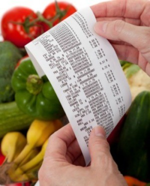 shopping receipt