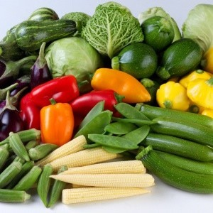 A variety of vegetables.