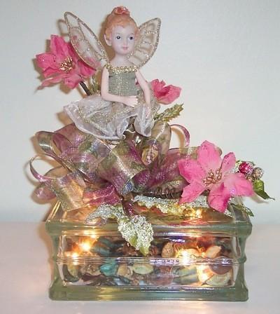 glass block angel