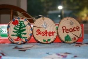 three ornaments