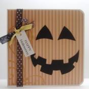 striped pumpkin paper card