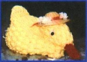 Crochet Jellybean Duck - little yellow crochet duck