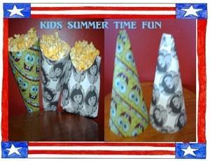 Popcorn cones.