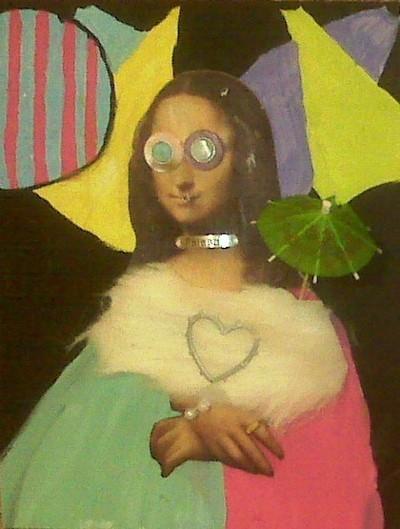 embellished mona lisa