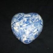 decoupaged heart shaped ceramic box