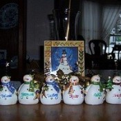 several snowmen