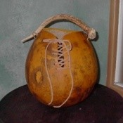 gourd with handle
