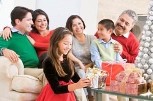 Family gathered for Christmas