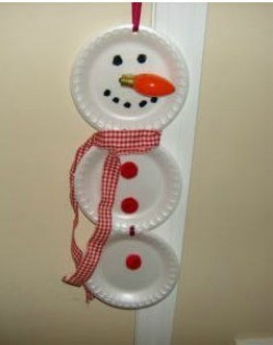 foam plate snowman with light bulb nose & Making a Paper Plate Snowman | ThriftyFun