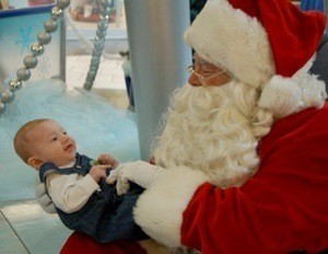 Santa and an infant.