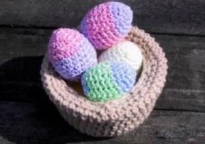 pastel crochet egg covers