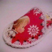 Recycled Christmas Card Slippers