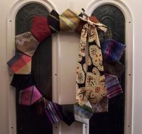 Necktie door wreath.