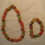 Bracelet and necklace.