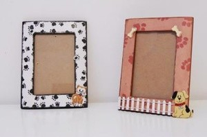 two pet themed photo frames