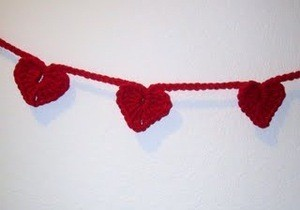 Crocheted Heart Garland