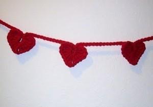 Crocheted Heart Garland