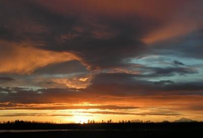 Sunset (Horseshoe Lake, AK)