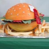 Cut veggies that look like burger