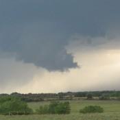 Beginnings of a funnel cloud.