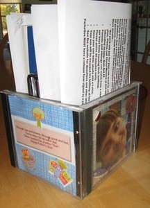 Craft: Organizer from CD Cases