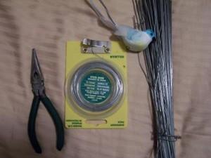 supplies for making garden picks