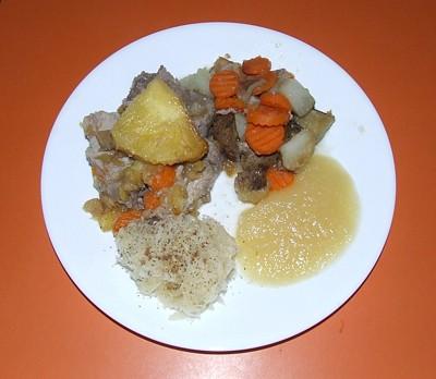 Pineapple Pork Roast on a white plate