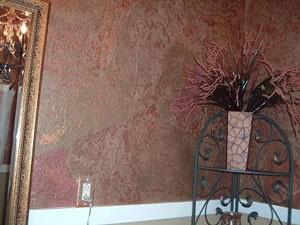 Brown paper bag wallpaper technique thriftyfun - Brown paper bag walls ...