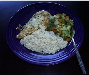 Parmesan Chicken And Veggies