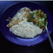 Parmesan Chicken And Veggies